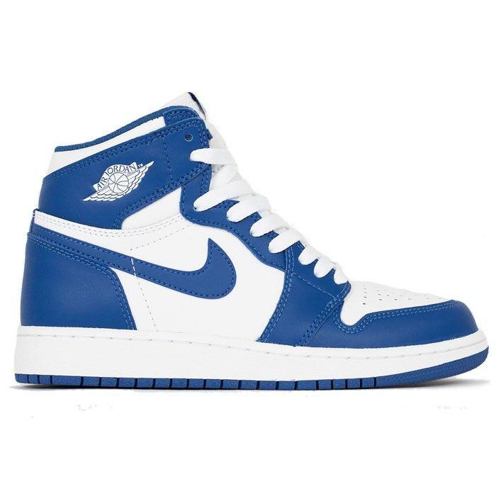 premium selection 6239a db9d0 Chaussures Nike Air Jordan 1 Retro High OG Storm Blue 575441-127 Constituée  de cuir