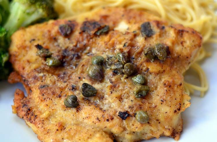 Chicken Piccata with Lemon and Capers - Growing Up Gabel