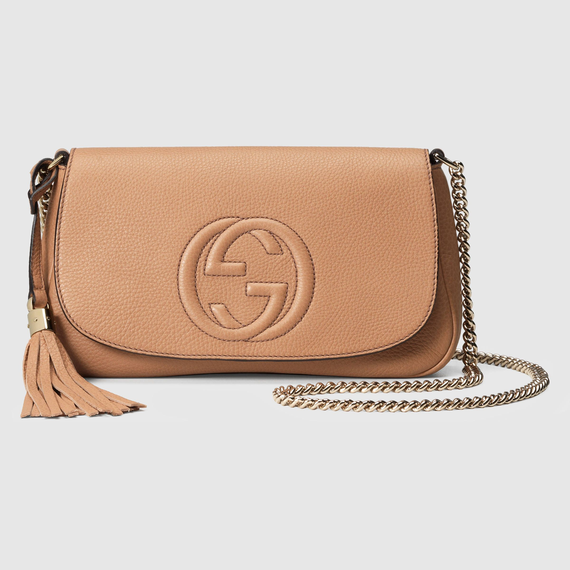 ad35e9aca89c60 Gucci Women - Soho leather shoulder bag - 336752A7M0G2754 | Bags ...