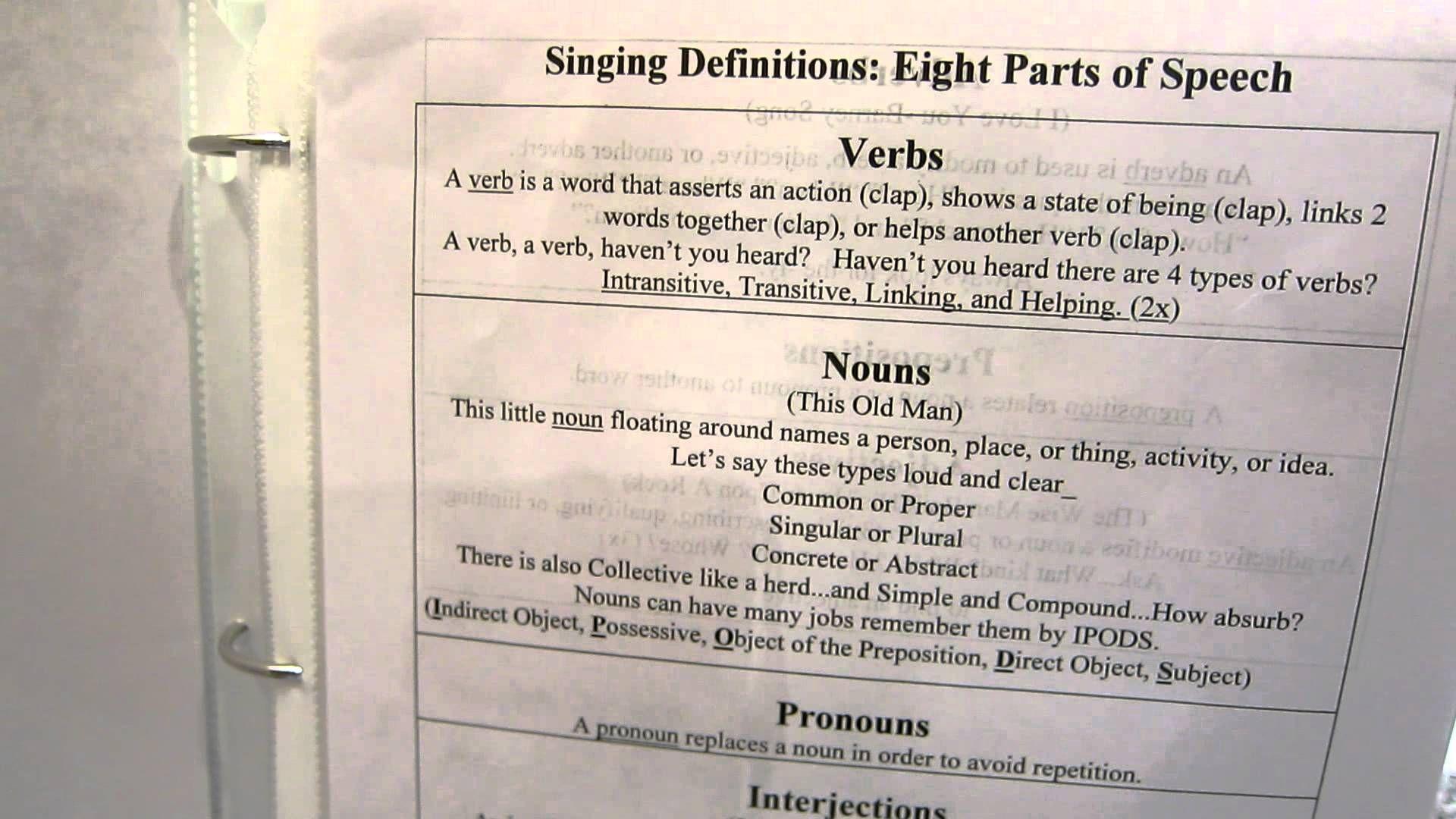 Essentials Verb Chant Classical Conversations