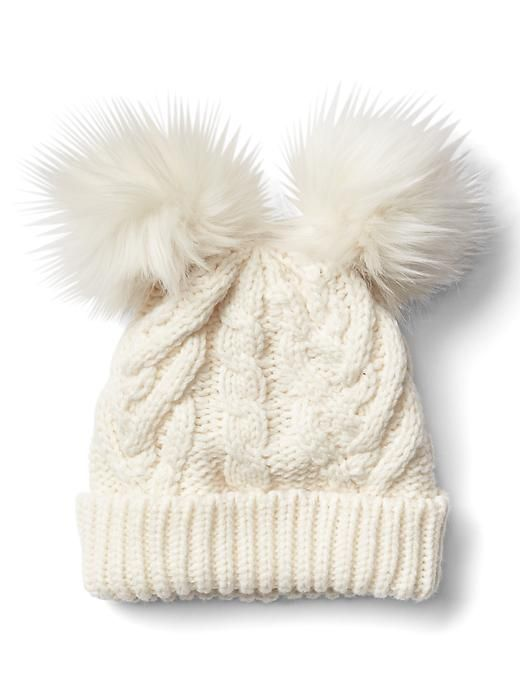 e13bf4f8a Gap Cable Knit Pom Pom Beanie | Gabriella | Toddler girl outfits ...