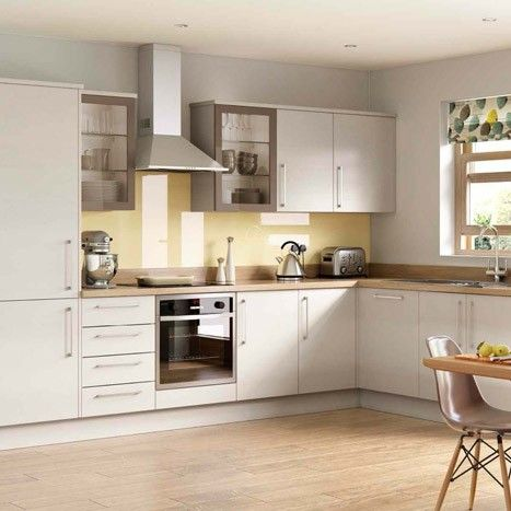 Love the pop of colour used by the splash back blind and for Kitchen ideas john lewis