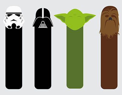 graphic about Star Wars Bookmark Printable named star wars bookmark black and white - Szukaj w Google
