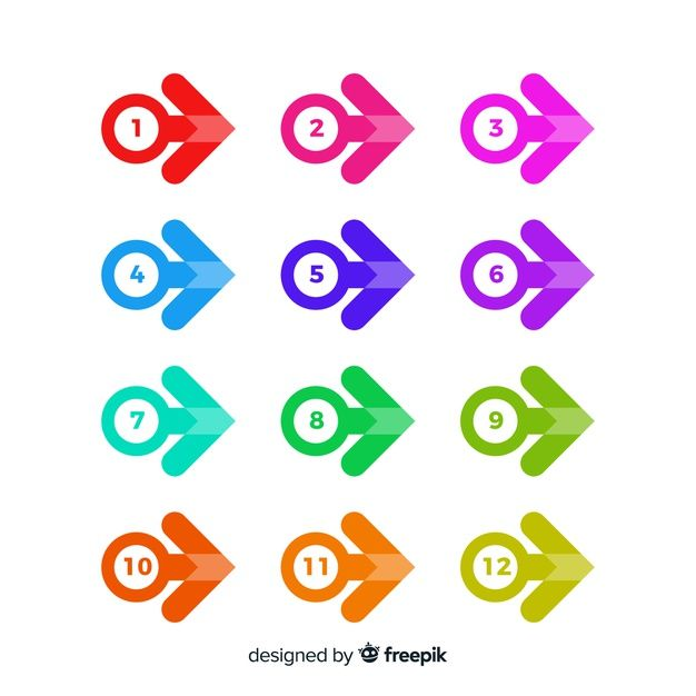 Download Flat Arrow Bullet Point Collection For Free Vector Free Freepik Graphing
