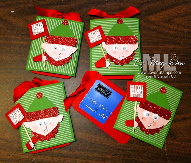 Elf on the Shelf A Punch Art Gift Card Holder Tutorial