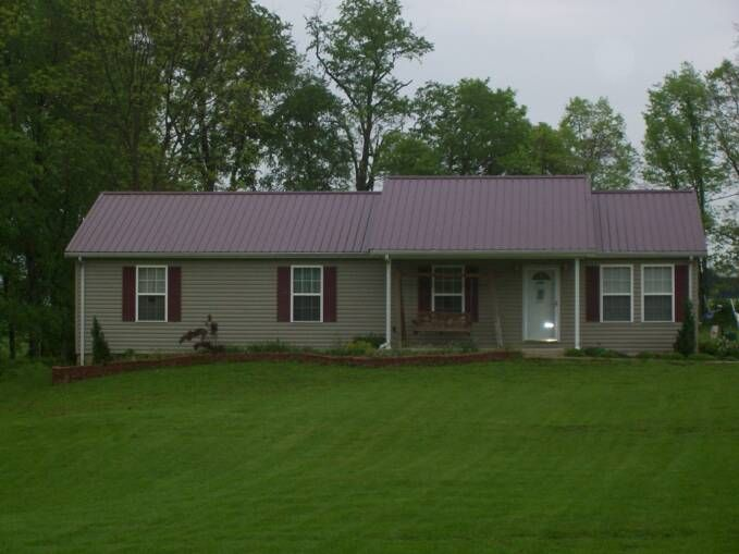 Red metal roof tan siding click pictures to enlarge for House and roof colors