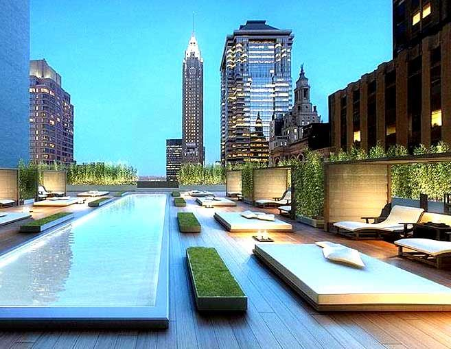 New York City luxurious rooftop