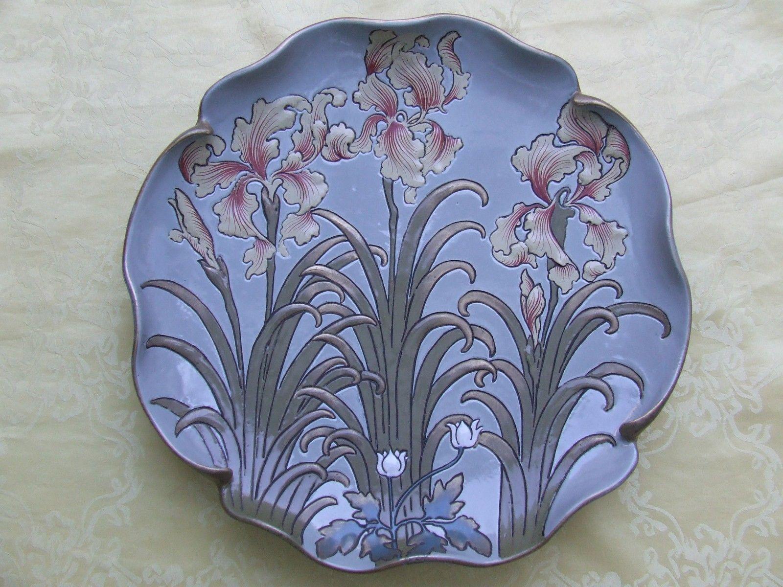 art nouveau plate bowl