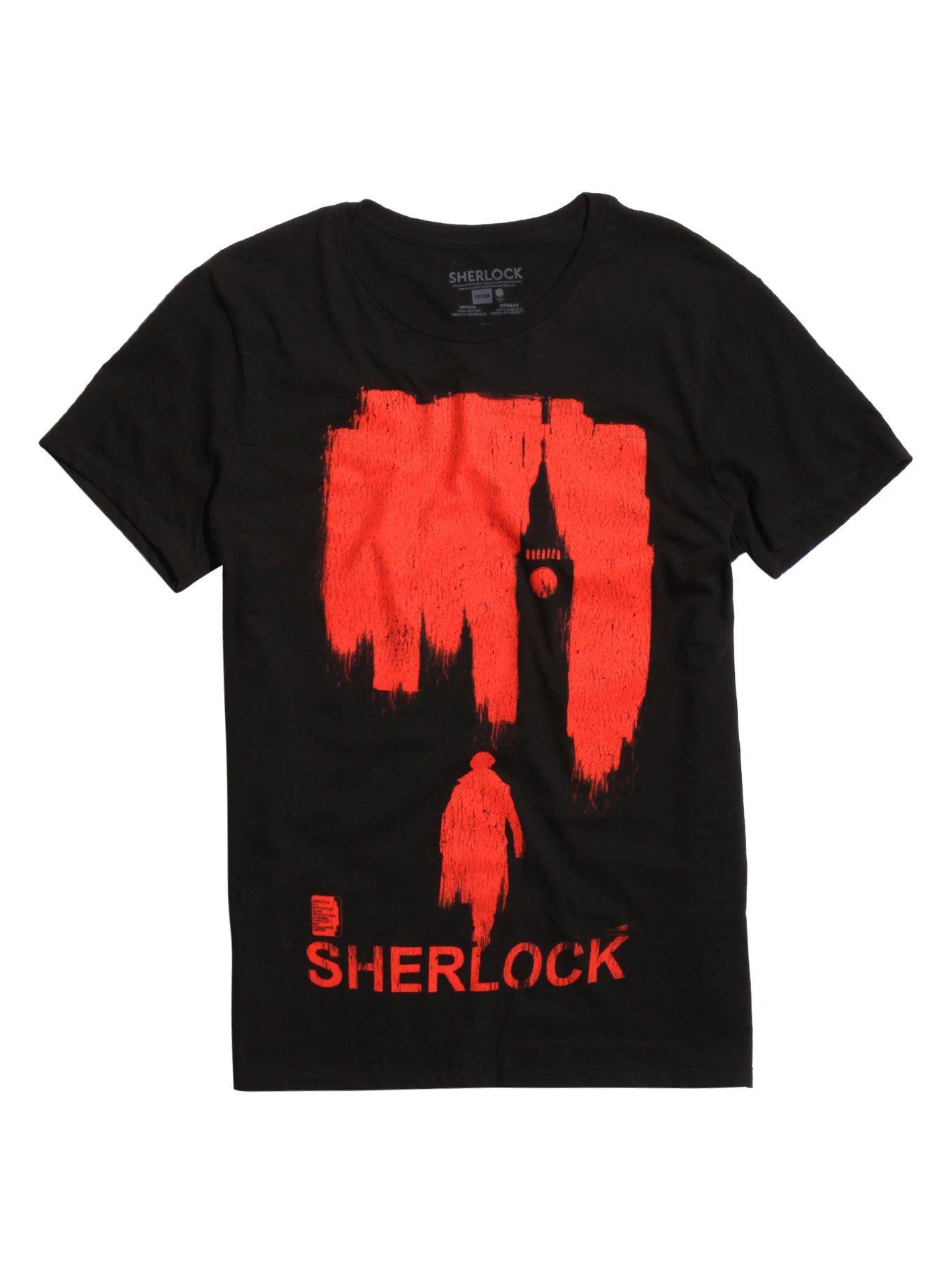 Sherlock Red London TShirt Sherlock, T shirt, London shirts