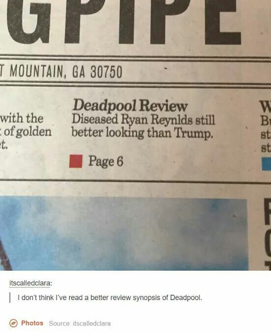~Actually the best Deadpool review~