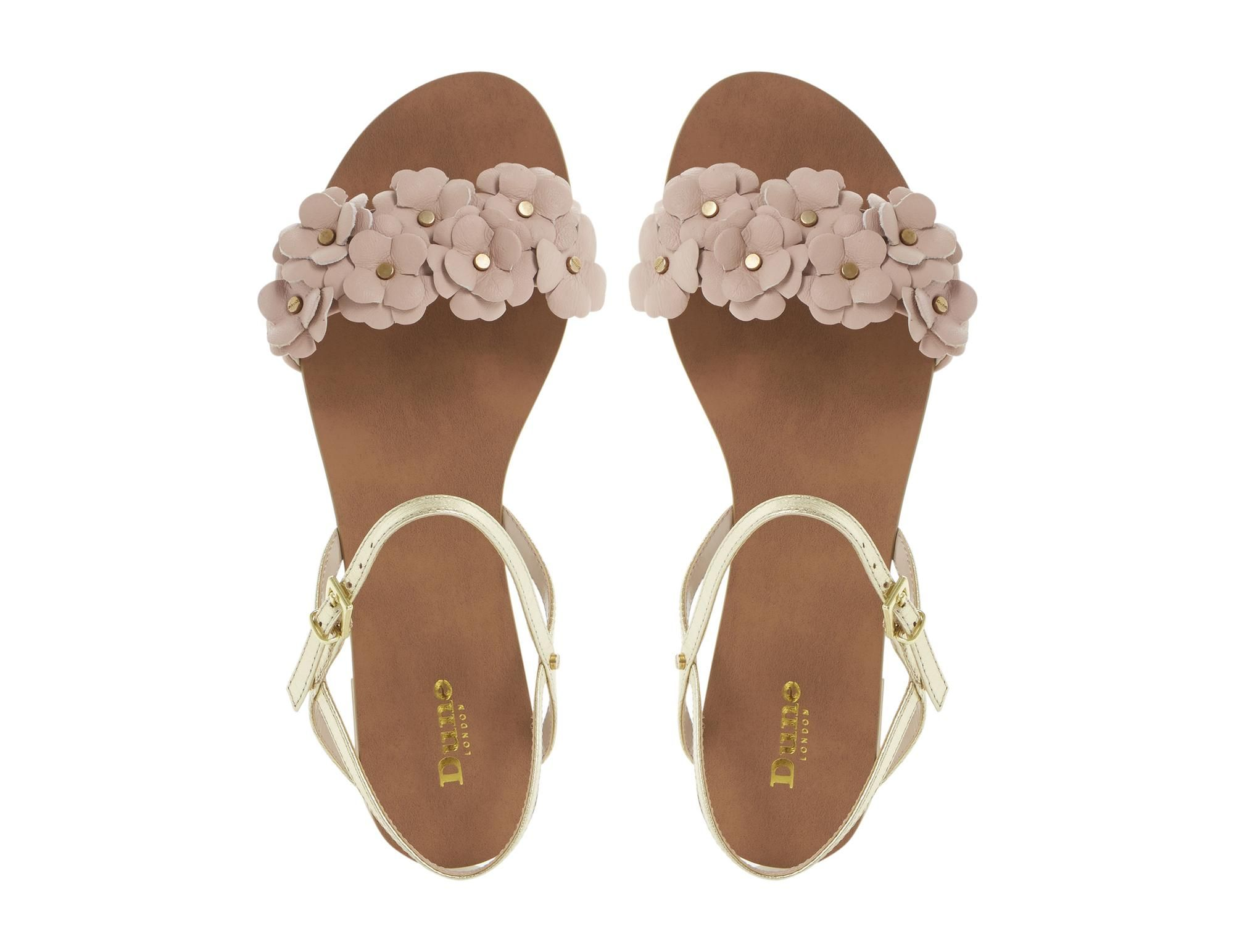 a6fe1e38d0e DUNE LADIES JUNIPA - Flat Sandal with Front Flower Detail - pink ...