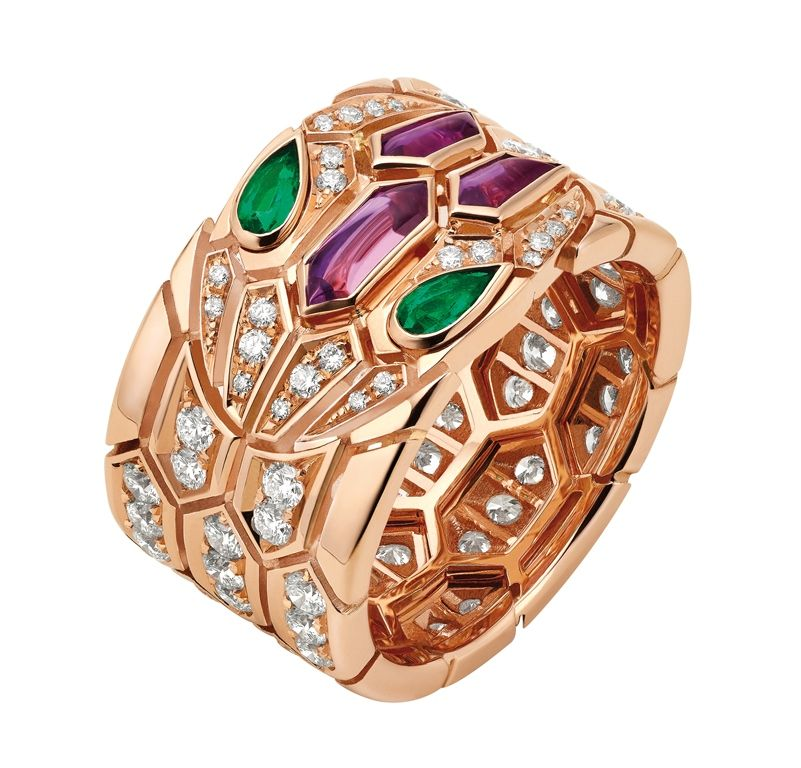 look closely at this bulgari ring and youu0027ll find a coiled snake in the bulgari