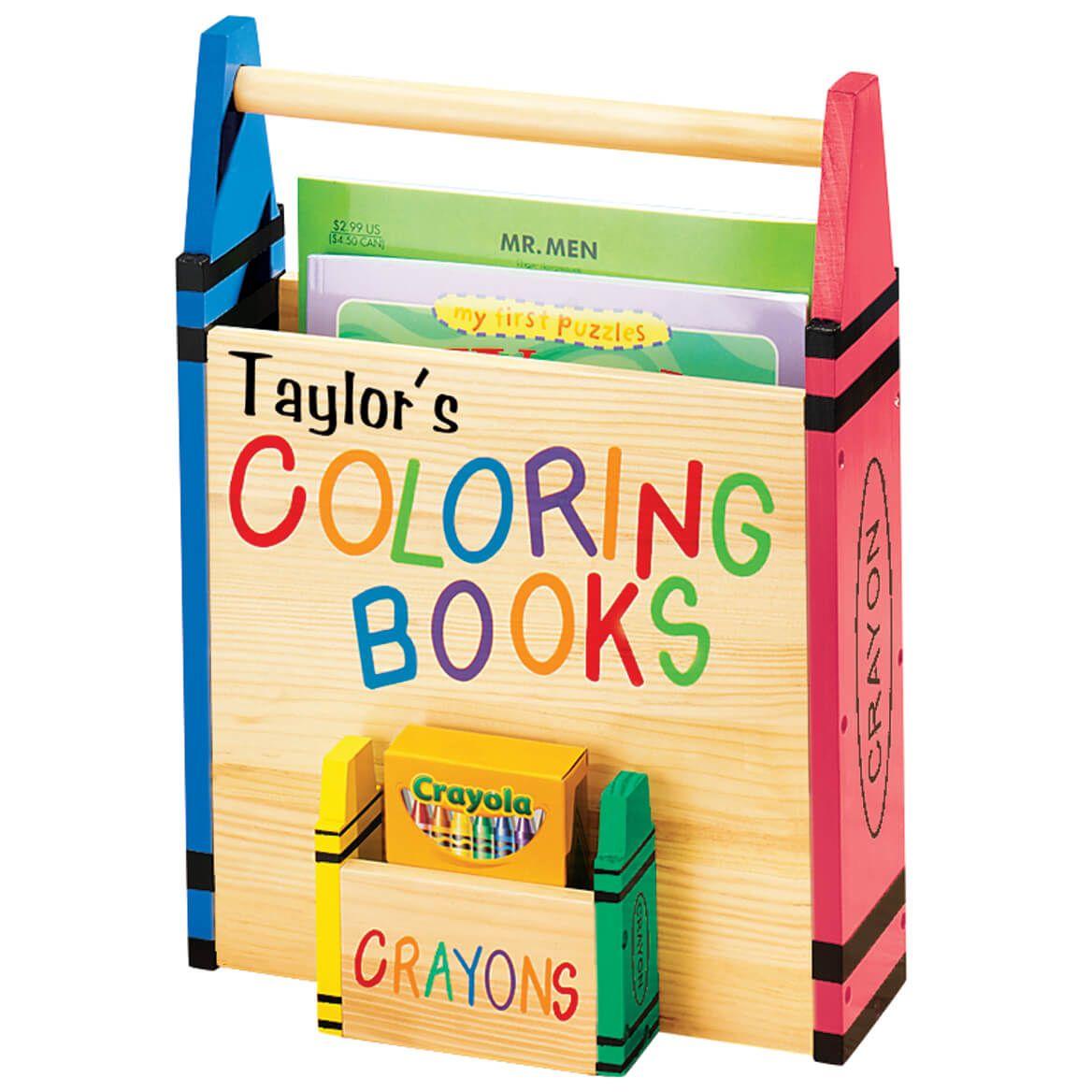 Personalized Wood Color Crayon Caddy Crayon Organizer Coloring Book Storage Personalized Coloring Book Crayon Storage