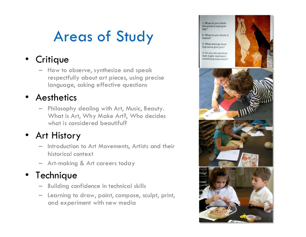 Visual Arts Curriculum With Images
