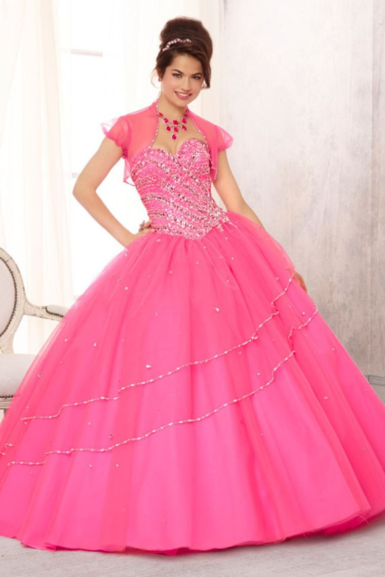 Sweetheart Jewel Beaded Bodice Tulle Ball Gown Skirt USD 261.35 ...