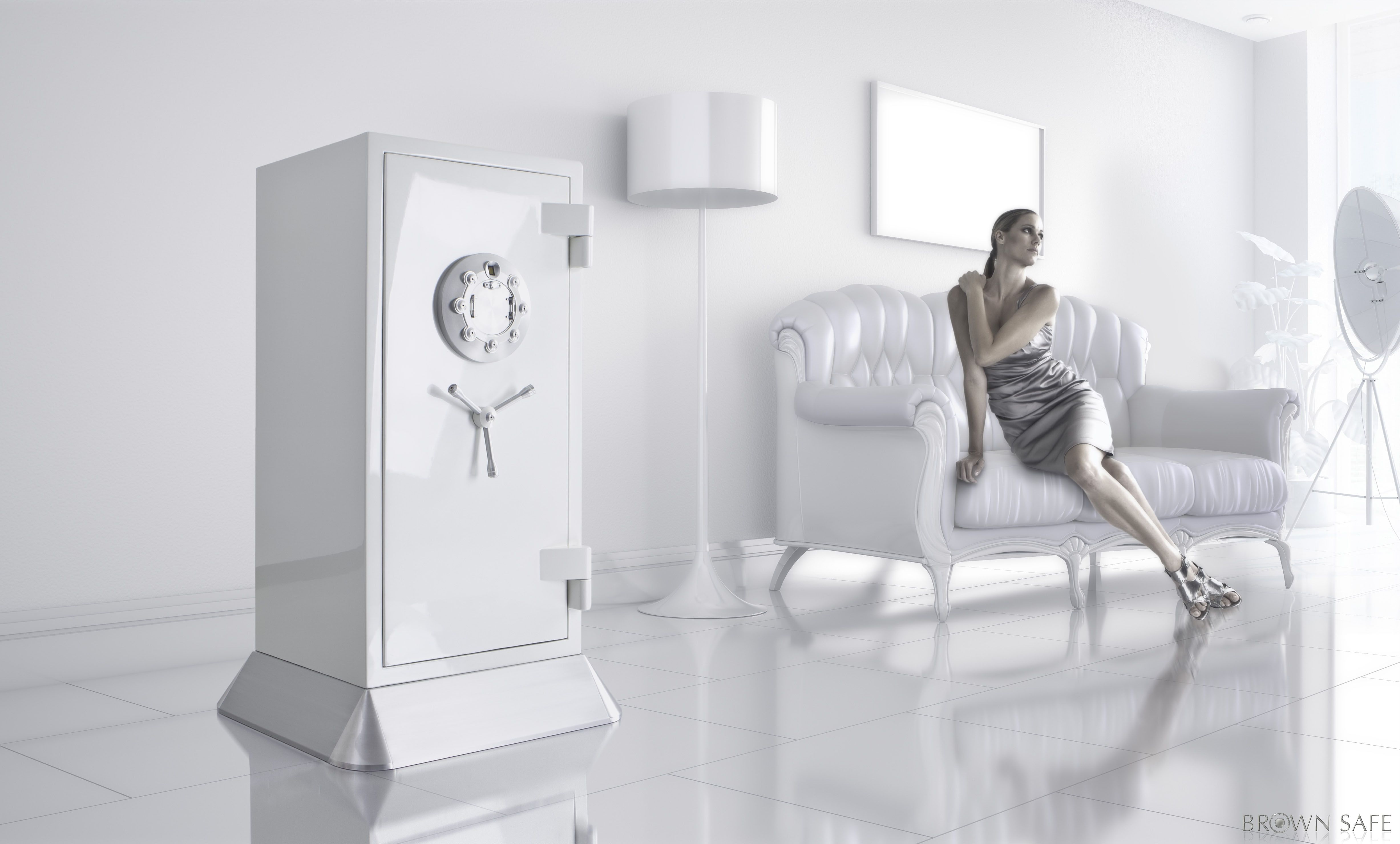 Chronos Model - Pearl White | Jewelry Safes | Room colors
