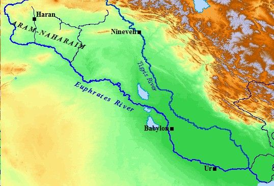 A map of the Tigris & Euphrates Rivers. Notice the major cities ...