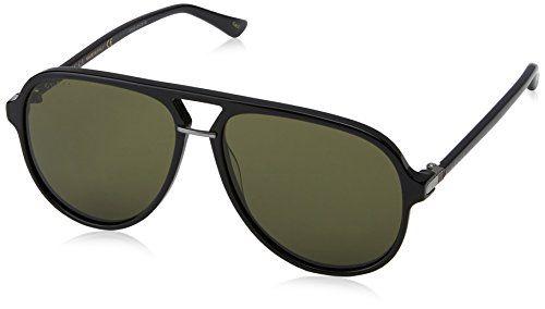 1750d89c0953f Gucci 0015S Pilot Shape Fashion Sunglasses Size 58mm