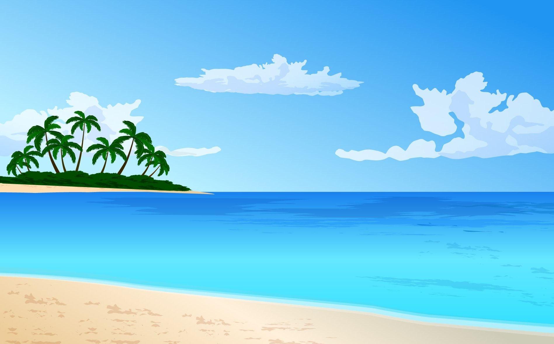 Animated Beach Scene Desktop Wallpaper: HDWallpaperFX In 2019
