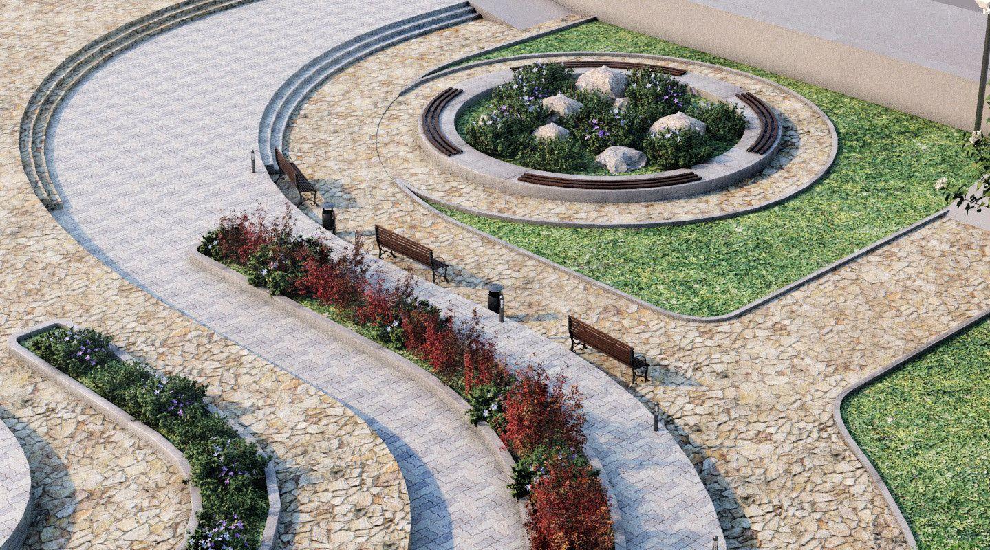 Landscape Park 2 3d Model Tạo Cảnh Quan Parks Khu Nghỉ Dưỡng
