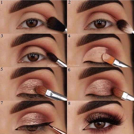 Eye Makeup Tutorial step by step Look natural and simple - Samantha Fashion Life -  22 Eye Makeup T