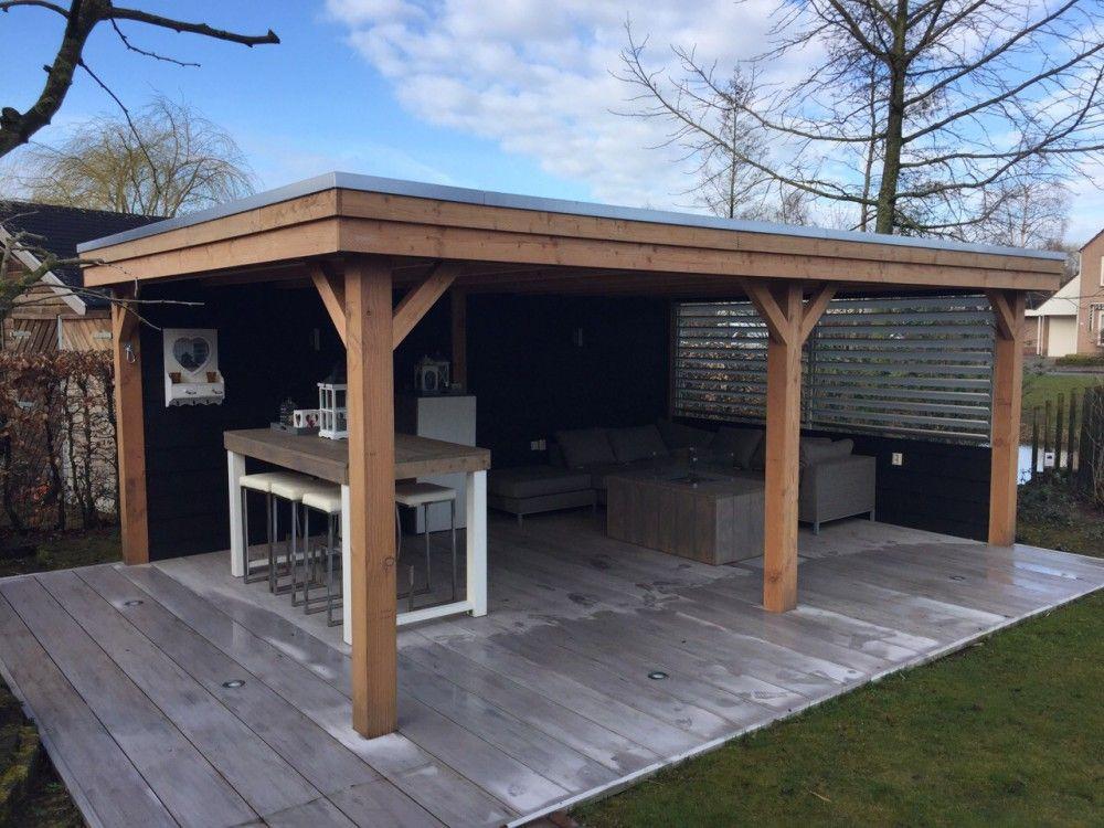 Houten overkapping diverse terassoverkappingen van der heijden buitenleven tuin - Buiten terras model ...