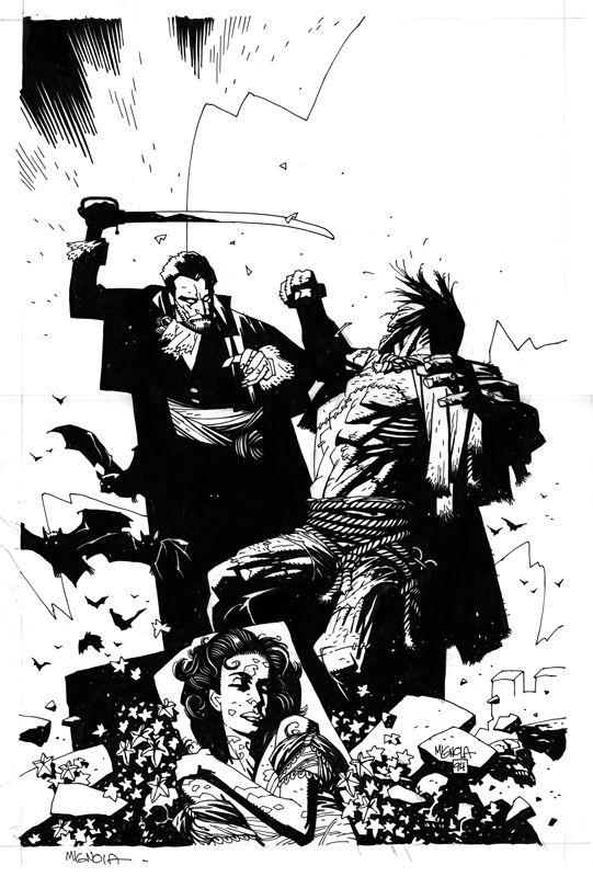 Frankenstein-Dracula cover 3 Comic Art