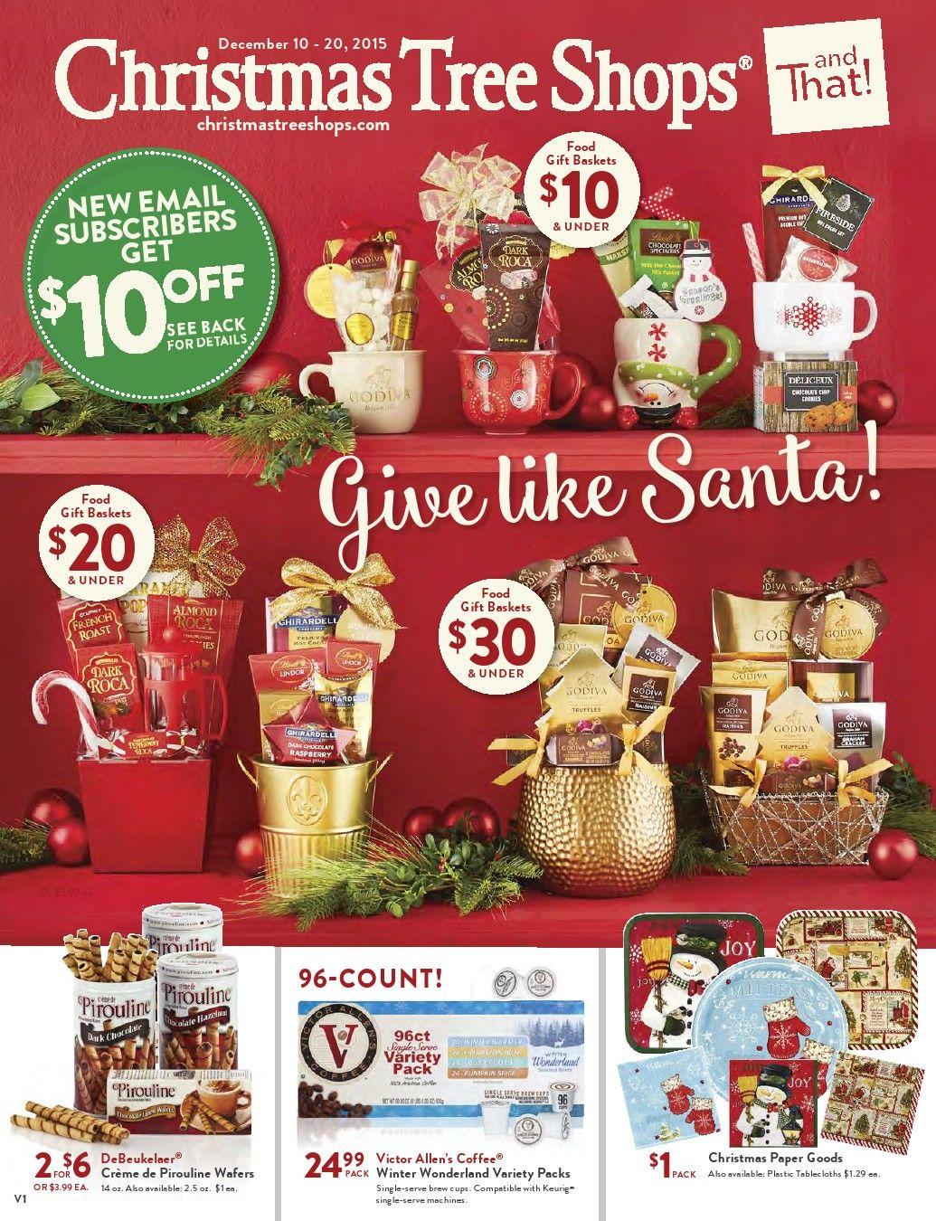 Christmas Tree Shops Ad December 10 20, 2015 http