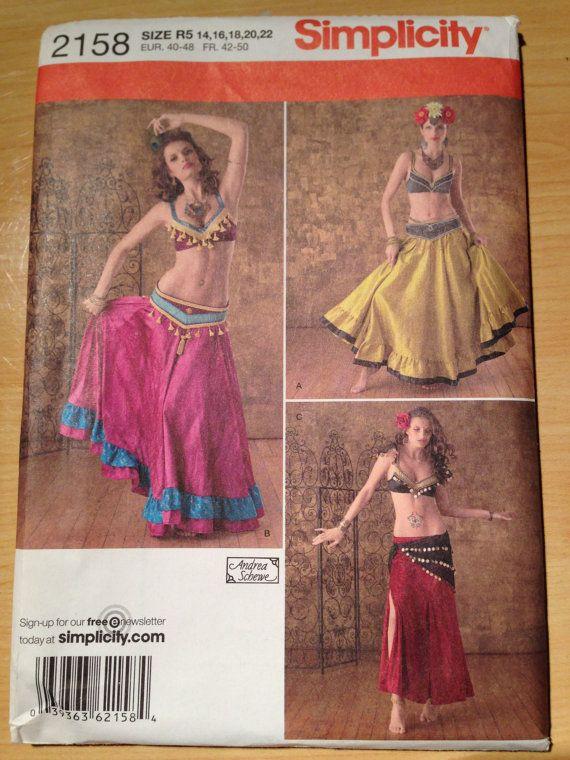 b1ce08566796 Simplicity Costume Pattern 2158 Beledi Belly Dancer by SplashOfLuv, $14.99
