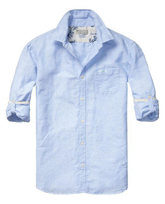 83bd12eb98 scotch & soda linen shirt with roll-up sleeves | garments for the ...