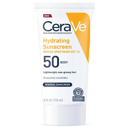 Cerave Hydrating Body Lotion Mineral Sunscreen With Broad Spectrum