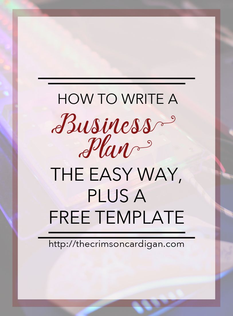How to Write a Business Plan the Easy Way Writing a