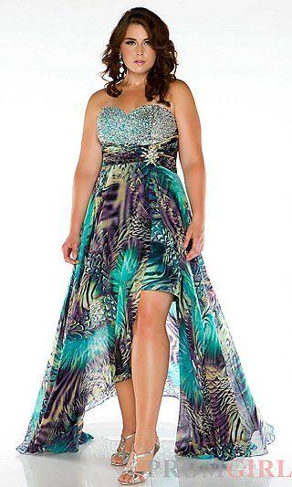 High low dresses plus size cheap