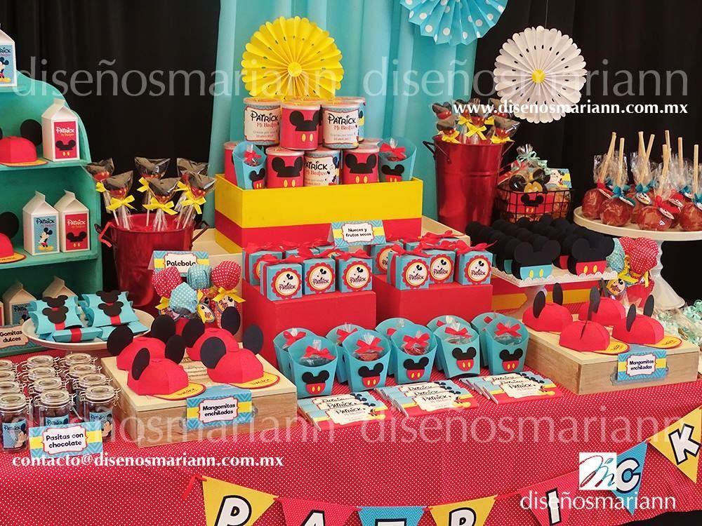 Mesa de dulces mickey mouse cumplea os mickey mouse for Mesas dulces cumpleanos