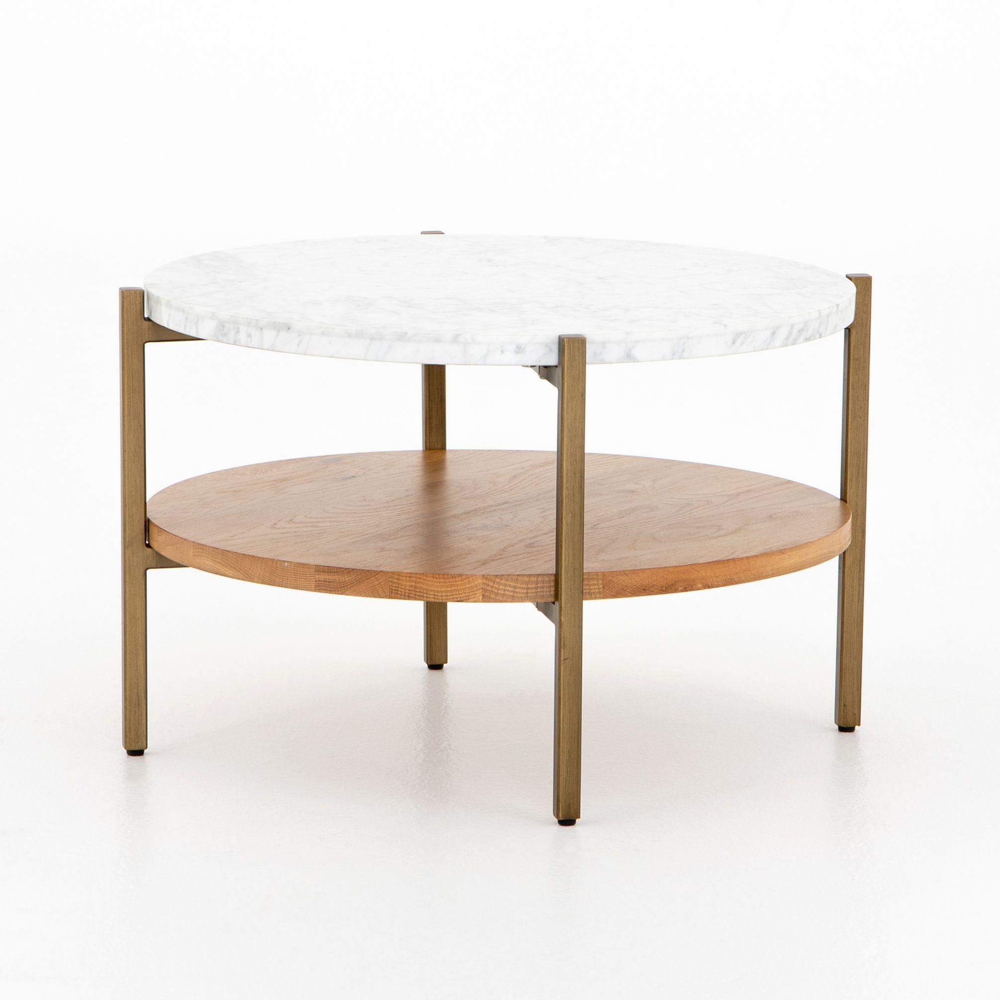 Olga Round Buncher Golden Brass Coffee Table Marble Round Coffee Table Marble Coffee Table [ 2011 x 2011 Pixel ]
