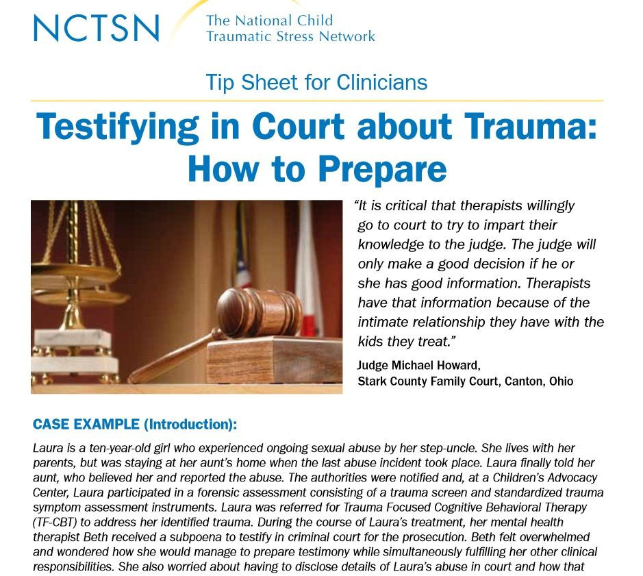 Workbooks tf cbt workbook for children : Testifying in Court about Trauma: How to Prepare | Juvenile ...