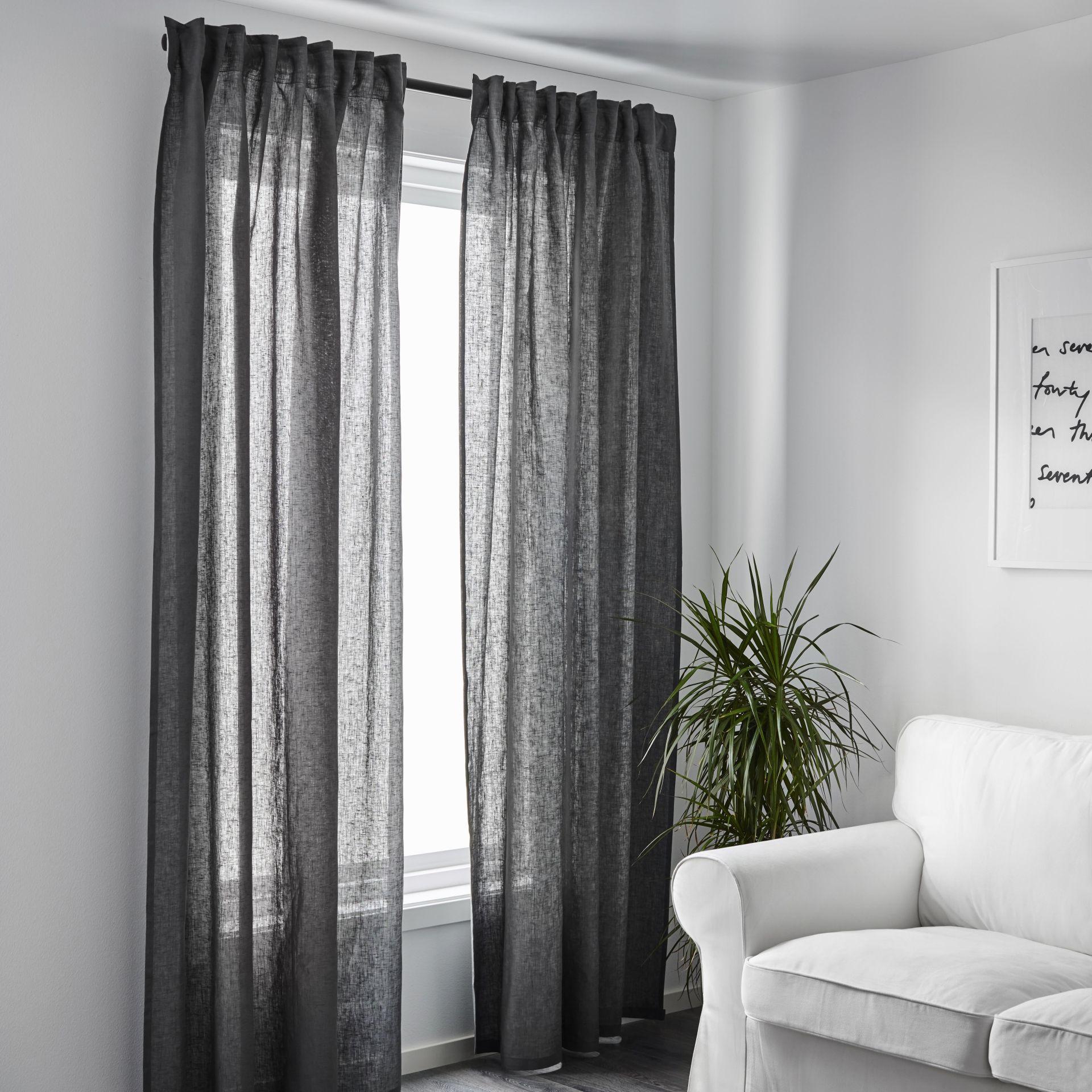 AINA Gordijnen, 1 paar, donkergrijs | Apartments, Catalog and Interiors