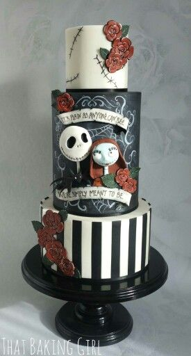 The Nightmare before Christmas cake wedding ideas in 2018