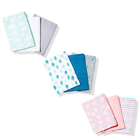 Pack Of 3 Muslin Wraps Kmart Nappy Cake Pinterest