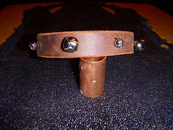 Leather Anklet with or without Bells  by ExoticLeatherErotica