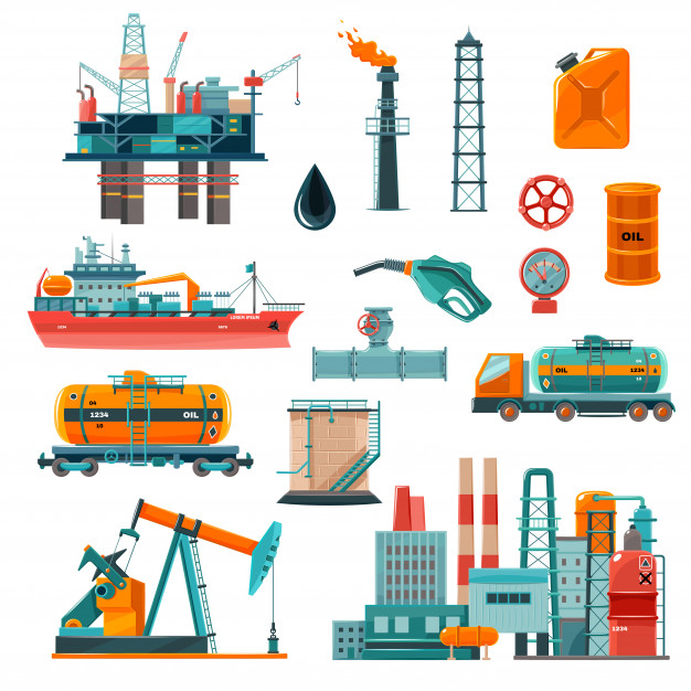 Download Oil Industry Cartoon Icons Set for free | Cartoon icons, Oils, Oil industry
