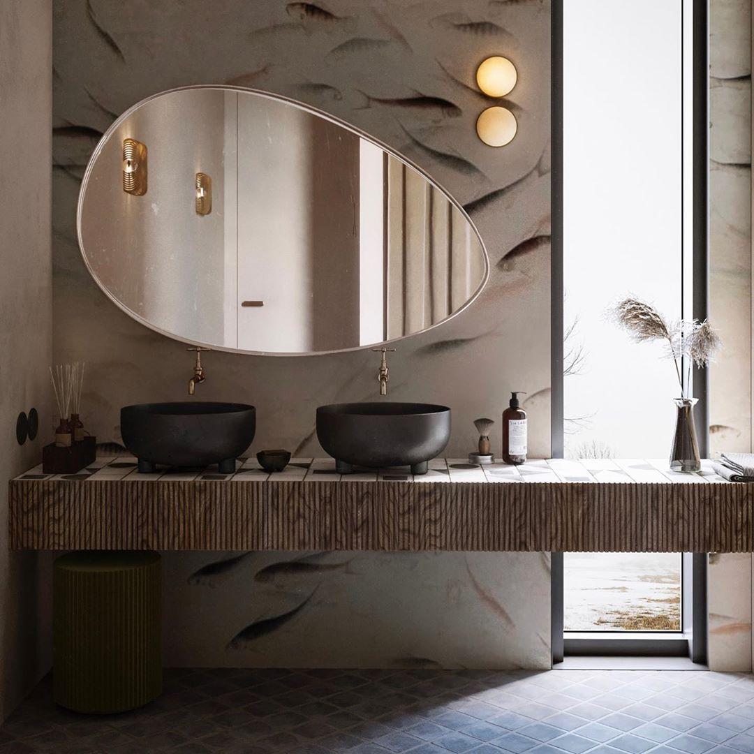 Love This Warsaw Mood Apartment Design By Katarina Rulinskaya The Bathroom In This Scheme Is My Favourite Idee Per Il Bagno Arredo Bagno Moderno E Arredamento Bagno