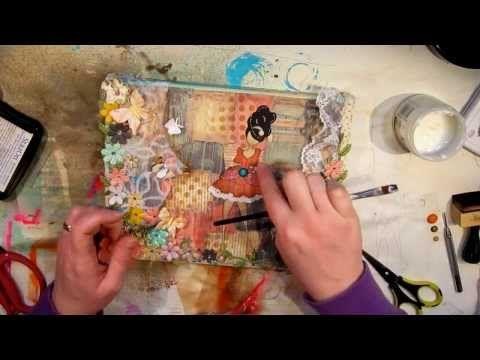 Shine On Mixed Media Canvas Tutorial - YouTube