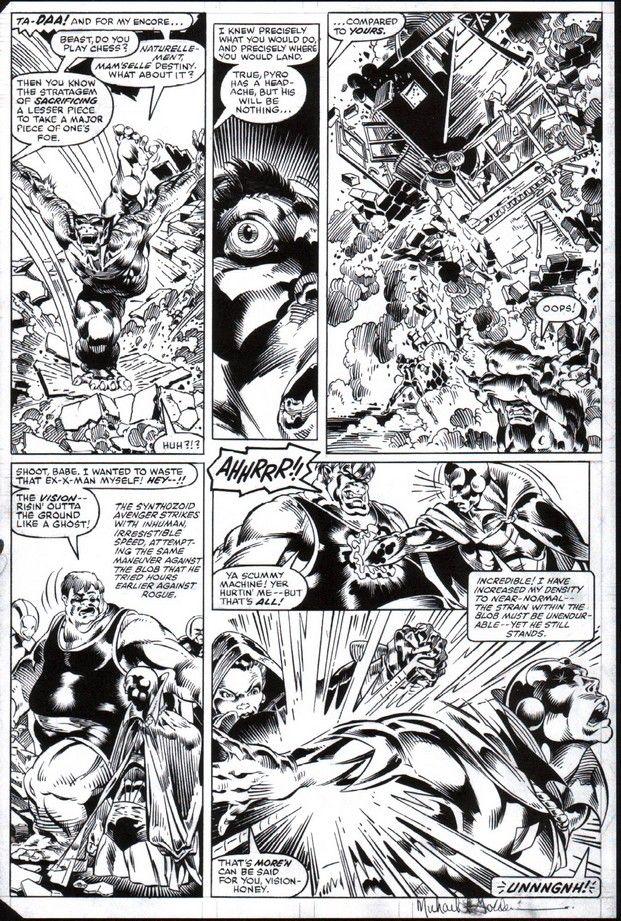 Avenger S Annual 10 Penciller Michael Golden Inker Armando Gil Comic Art Marvel Comics Art Art