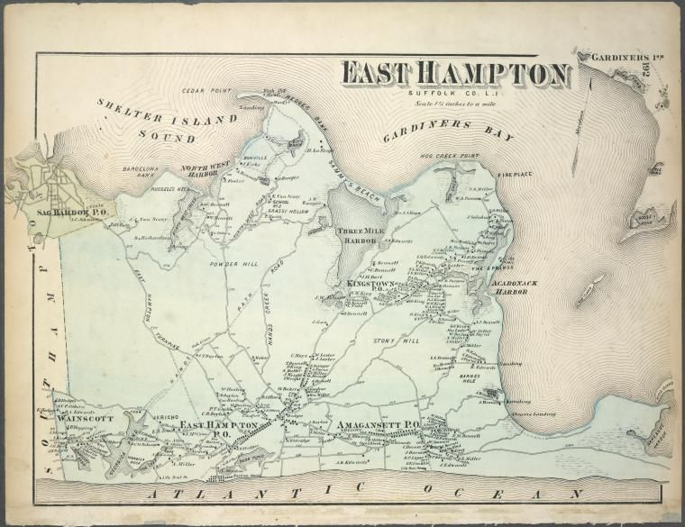 Map of EastHampton  Our Home The East End  Pinterest  Of