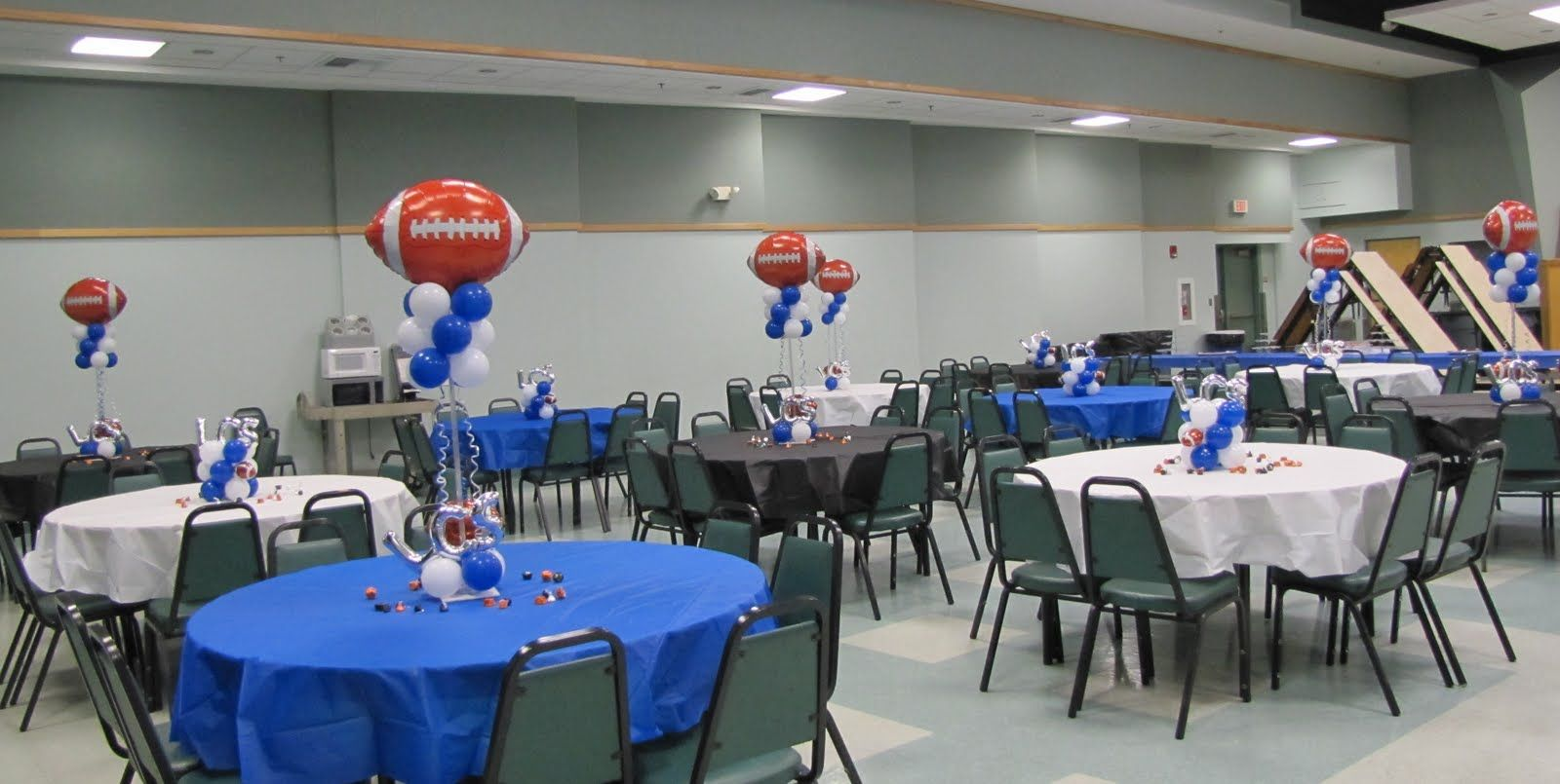 Basketball banquet centerpieces party people celebration
