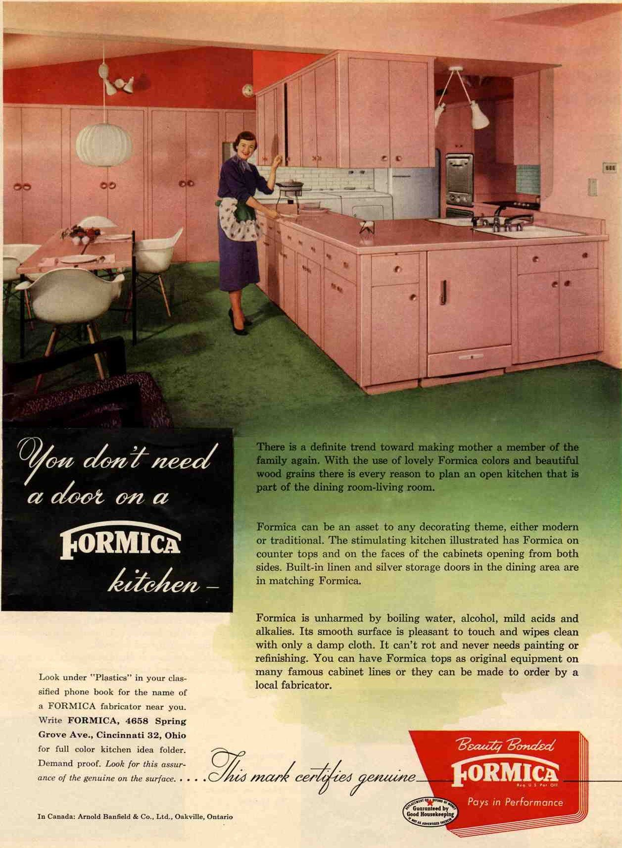 Vintage 1953 Pink Formica Kitchen Love My 50 S Countertops