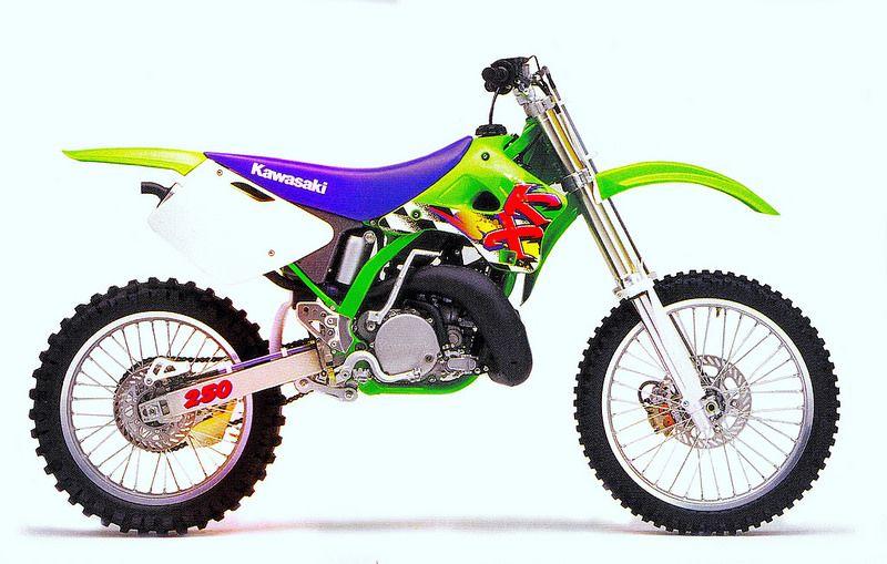 1995 Kawasaki Kx250 Copy Kawasaki Dirt Bikes Kawasaki Bikes Motocross Bikes