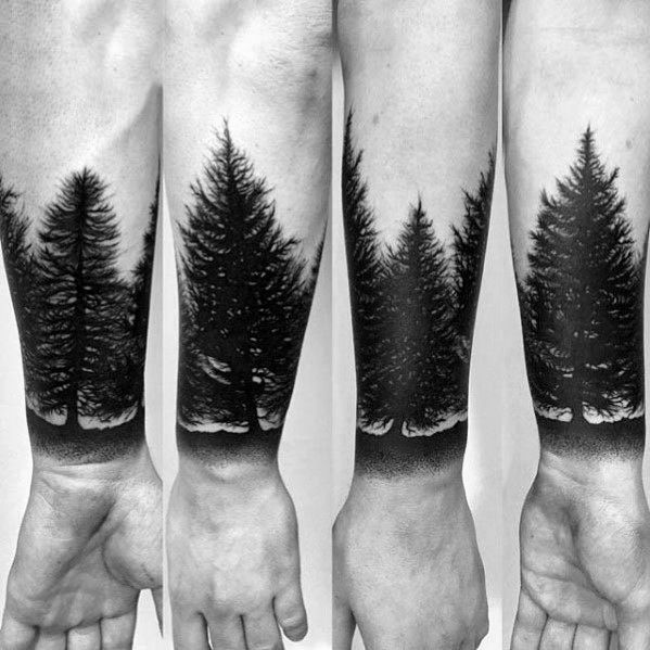 97e9f8b5f592f Discover wilderness ink inspiration with the top 50 best tree line tattoo  design ideas for men. Explore cool timberline ink ideas.
