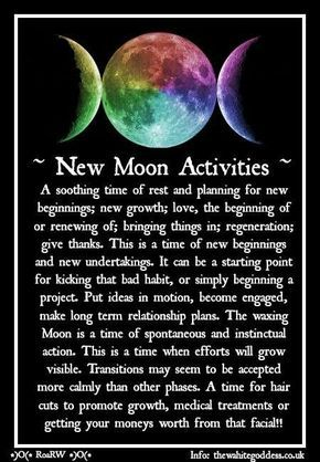 New Moon Activities – Witches Of The Craft® #newmoonritual